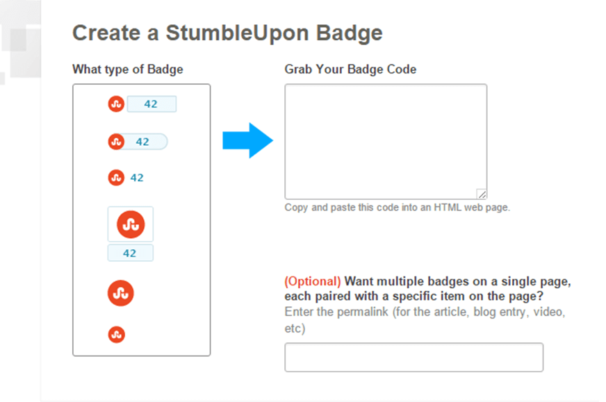 StumbleUpon grab a badge