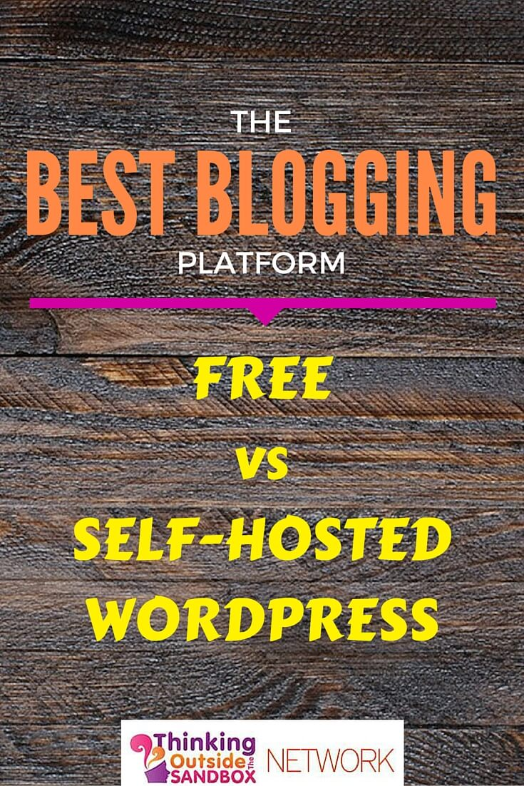 Thinking Outside The Sandbox: Business B Best Blogging Platform: Free vs Self-Hosted Wordpress Blogging Small Business TOTS Business  wordpress wix website tips self hosted mom blog how to google free blogs free blogspot blogging advice blogging bloggers blogger blog best blogging platform adsense