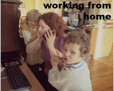 Thinking Outside The Sandbox: Business WorkingFromHome-400x321 How to Survive Working from Home Blogging Motivation Small Business TOTS Business  working from home wahm stay at home sahm