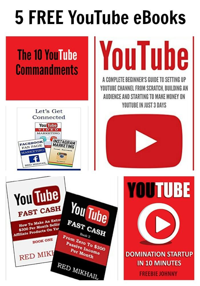 5 FREE YouTube eBooks