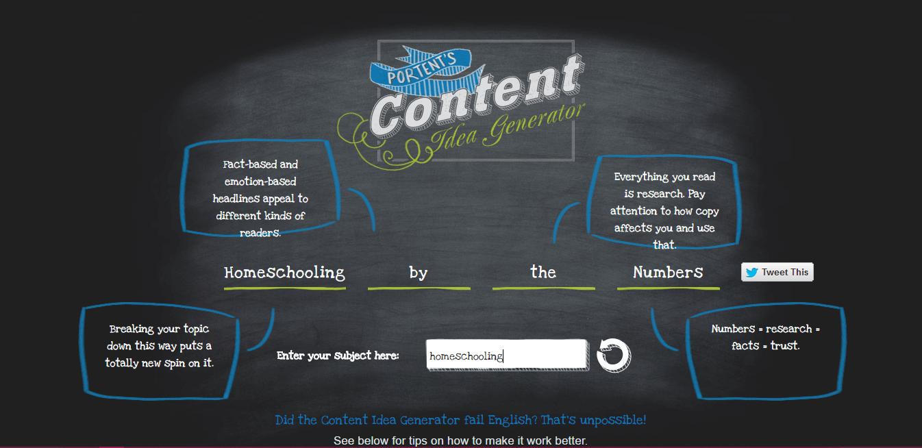 Content generator - Blog Ideas