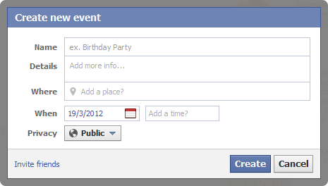 Use Facebook Events Create an event for your webinar on Facebook so you can send out invitations.