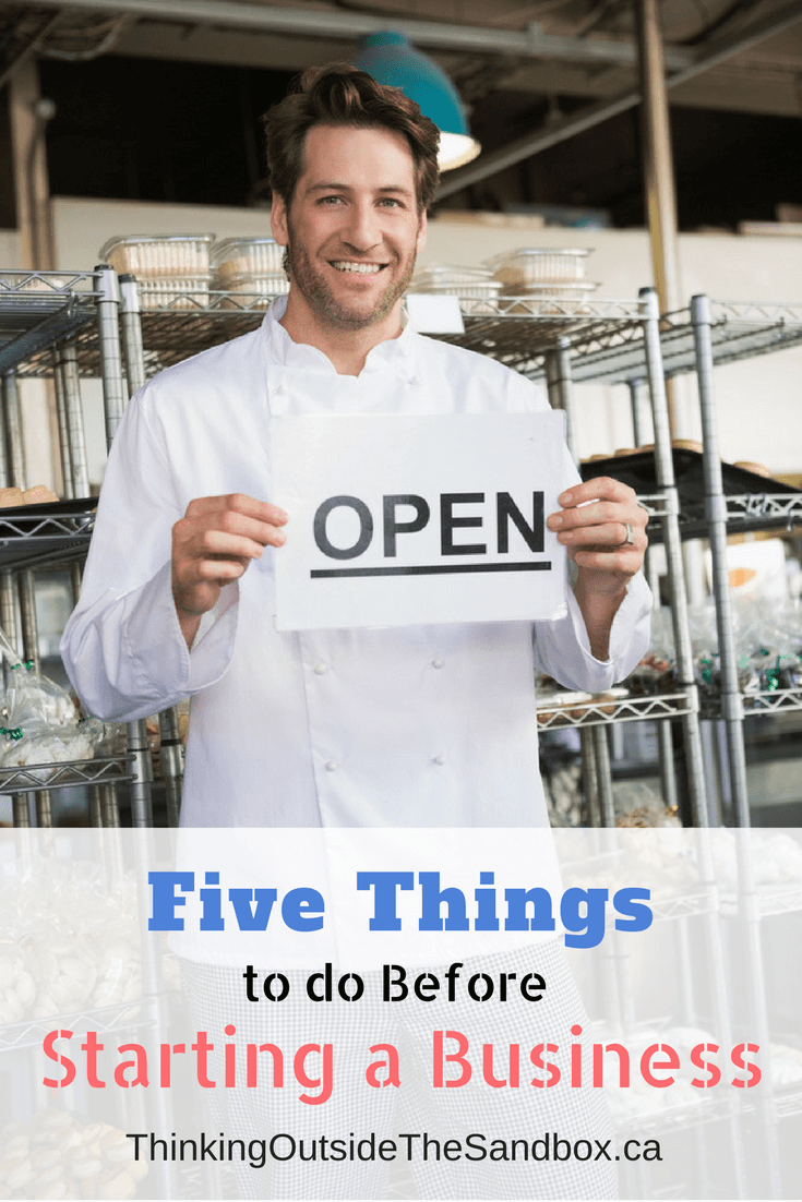 Five things to do before starting a business