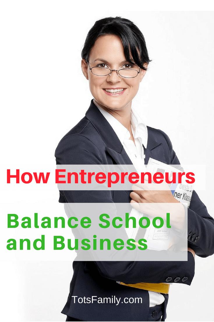 Balance School and Business