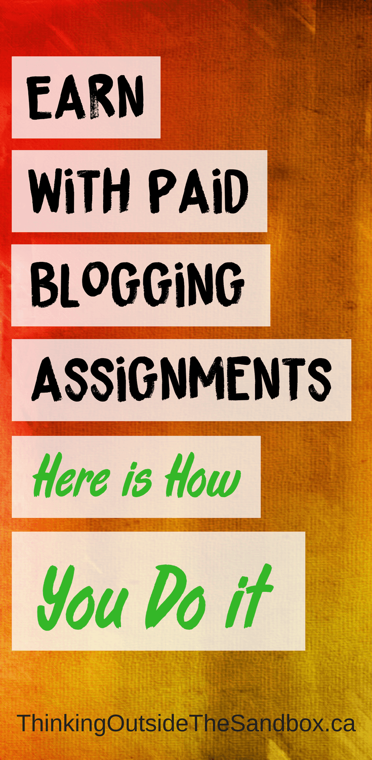 Nine times out of ten, when you set-up your blog you're not immediately going to earn with Paid Blogging Assignments and make a 5-figure income right out off the bat.