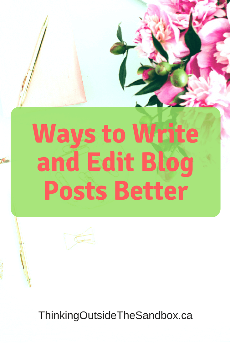 It takes some work to write engaging and actionable blog posts so it is critical to learn to write and edit blog posts better.