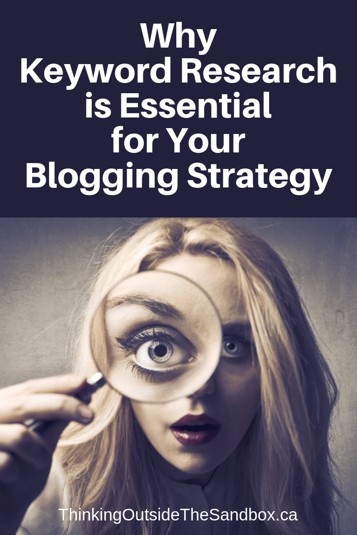 Thinking Outside The Sandbox: Business Why-Keyword-Research-Is-Essential-for-Your-Blogging-Strategy Why Keyword Research Is Essential for Your Blogging Strategy Blogging Motivation Small Business TOTS Business  keywords Keyword Tools Keyword Research keyword