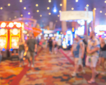 Abstract Blurred background of Casino in Las Vegas city in Nevada USA - Are social casinos bending the rules?