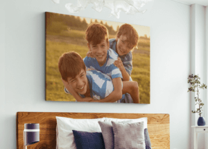 image of 3 brothers image printed on a canvas print is What to Do with All Those Photos on Your Phone