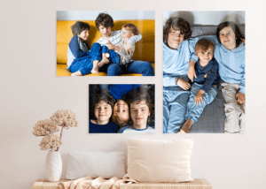 images of canvas prints of 3 brothers hung on a wall is What to Do with All Those Photos on Your Phone